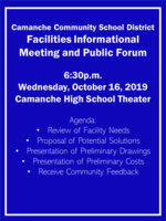 Facilities Informational Meeting - October 16th