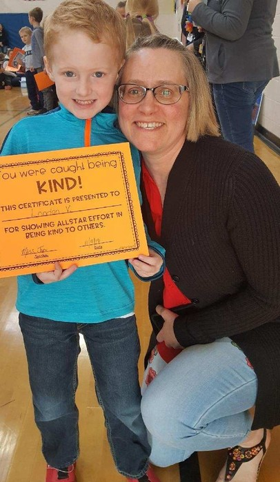 Ms. Jenn Catches Landan Being Kind!