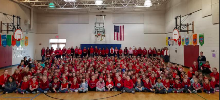 Camanche Elementary Wears Red